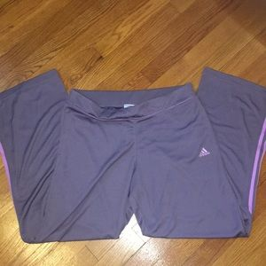 Adidas Open Bottom Pants L Grayish-Purple